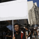 Hong Kong protester holding sign Holding Sign meme template blank  Holding Sign, Hong Kong, Asian, Opinion