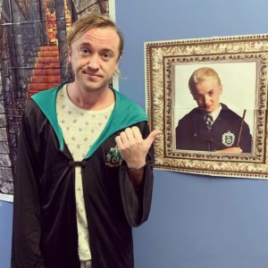 Malfoy pointing at picture of younger him meme Harry Potter meme template