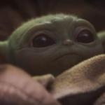 Baby Yoda Awake Concerned or Worried Star Wars meme template blank