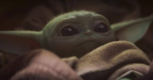Baby Yoda Awake Concerned or Worried Mandalorian meme template