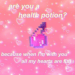 wholesome-memes cute text: préy.ogp health po!ione? beca%se wéen l*mü/ith you• (D all my hea s are  cute