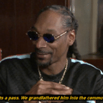 He gets a pass. We grandfathered him into the community. Black Twitter meme template blank  Snoop Dogg, Music, Black Twitter
