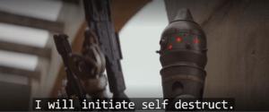 I will initiate self-destruct Droid meme template