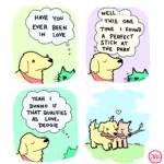 wholesome-memes cute text: HAVE γου EVER ΒΕΕΝ ΙΝ l-oVE DlJNN0 1F ΤΗΑΤ αυΑΙΙΆΕς Ας υονε, ο wEll... ΤΗΕ ΟΝΕ Ι F01.lND Α PERFEcT ΤΗΕ PARK  cute