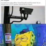 spongebob-memes spongebob text: HOME NEWS • CXXEWS • CRIME CCTV police officer