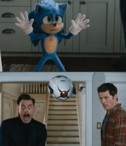 Surprised by Sonic Sonic meme template