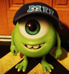Mike Wazowski as a kid Pixar meme template
