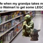 wholesome-memes cute text: Me when my grandpa takes me to Walmart to get some LEGO  cute