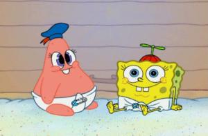 Baby Patrick and Spongebob Patrick meme template