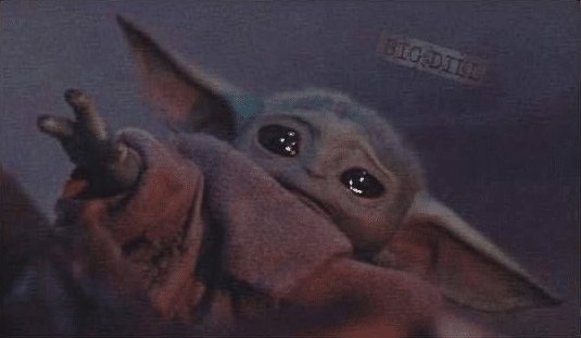 Meme Generator - Baby Yoda Sad, Reaching - Newfa Stuff