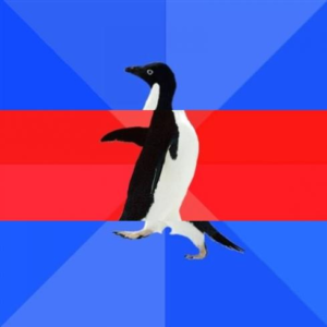 Awkward Awesome Awkward Penguin Classic meme template