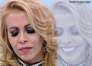 Woman sad on the outside, happy on the inside Sad meme template