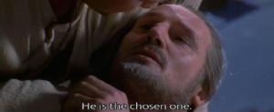 He is the chosen one Sad meme template