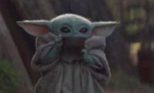 Baby Yoda drinking tea (alt) Food meme template