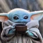 Baby Yoda Drinking Soup Star Wars meme template blank Star Wars, Baby Yoda