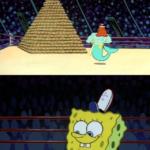 Spongebob vs. Neptune with burgers Spongebob meme template blank  Spongebob, Vs, Neptune, God, Burger, Cooking, Food, Krabby Patty