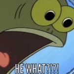 HE WHAT?! Fish Spongebob meme template blank  Spongebob, Tom the Fish, Fish, Surprised, Angry, Disturbed