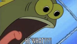 HE WHAT?! Fish Surprised meme template