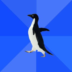 Socially Awkward Penguin Classic meme template