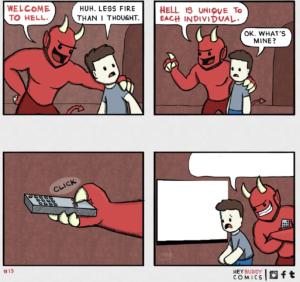Welcome to hell comic (blank) Hey meme template