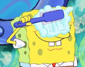 Spongebob Washing Eyes  Spongebob meme template