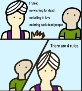 Genie there are 4 rules comic Opinion meme template