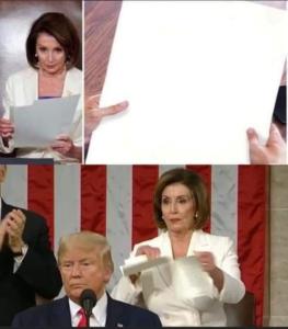 Nancy Pelosi Tearing Up Paper Opinion meme template