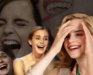Emma Watson Laughing Harry Potter meme template