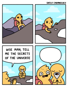 Wise man of the mountain comic Opinion meme template