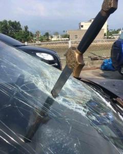 Sword in windshield Sword meme template
