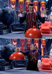 Robbie Rotten revealing nothing Food meme template