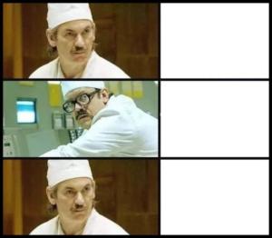 Chernobyl conversation Opinion meme template