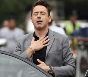Robert Downey Jr Relieved Avengers meme template