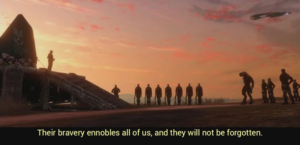 Their bravery ennobles all of us, and they will not be forgotten Opinion meme template