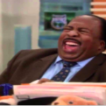 Stanley Laughing The Office meme template
