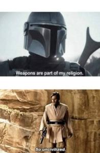 Obi-wan vs Mandalorian Opinion meme template