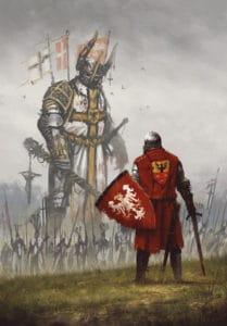 Pole standing in front of crusaders (Battle of Grunwald, 1410) Crusade meme template