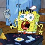 Confused Spongebob Cooking Spongebob meme template blank
