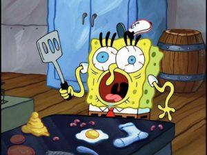 Confused Spongebob Cooking Food meme template