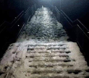 Ice stairs Opinion meme template