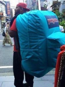 Giant Backpack Black Twitter meme template