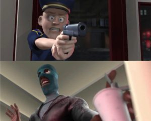 I SAID FREEZE! Im just…. Pixar meme template