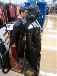 Superman behind Darth Vader  Chimera meme template