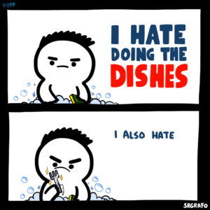 I hate doing the dishes comic (blank) Angry meme template