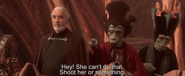 Meme Generator - She cant do that. Shoot her or something ...