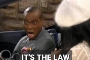 Its the law Black Twitter meme template