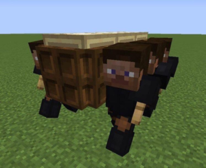 Carrying coffin in Minecraft Minecraft meme template