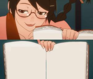Anime girl holding book Book meme template