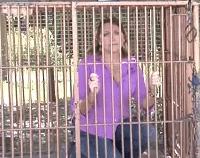 Carol Baskin in cage Sad meme template