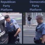 Political Memes Political, Biden, Trump, Democrats, Wondering, Obama text: Republican Party Platform Democratic Party Platform  Political, Biden, Trump, Democrats, Wondering, Obama